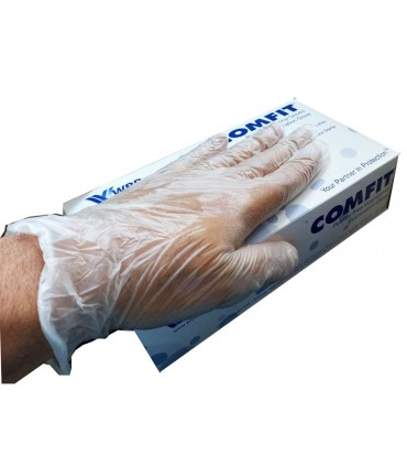 دستکش وینیل بدون پودر کامفیت سایز بزرگ