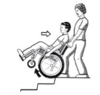 بالا رفتن پله ها با دستیار