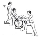 پایین آمدن از پله ها با دستیار